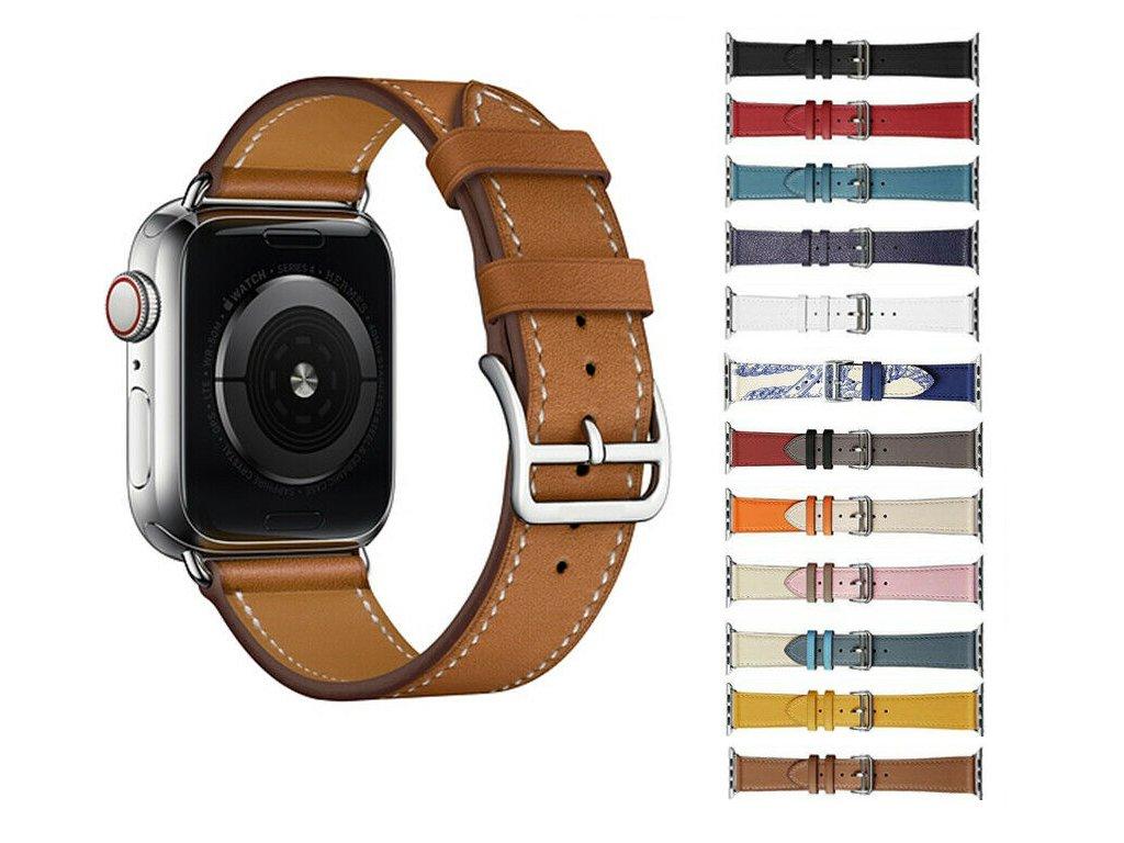 Kožený náhradní řemínek pro Apple Watch 42mm/44mm společné