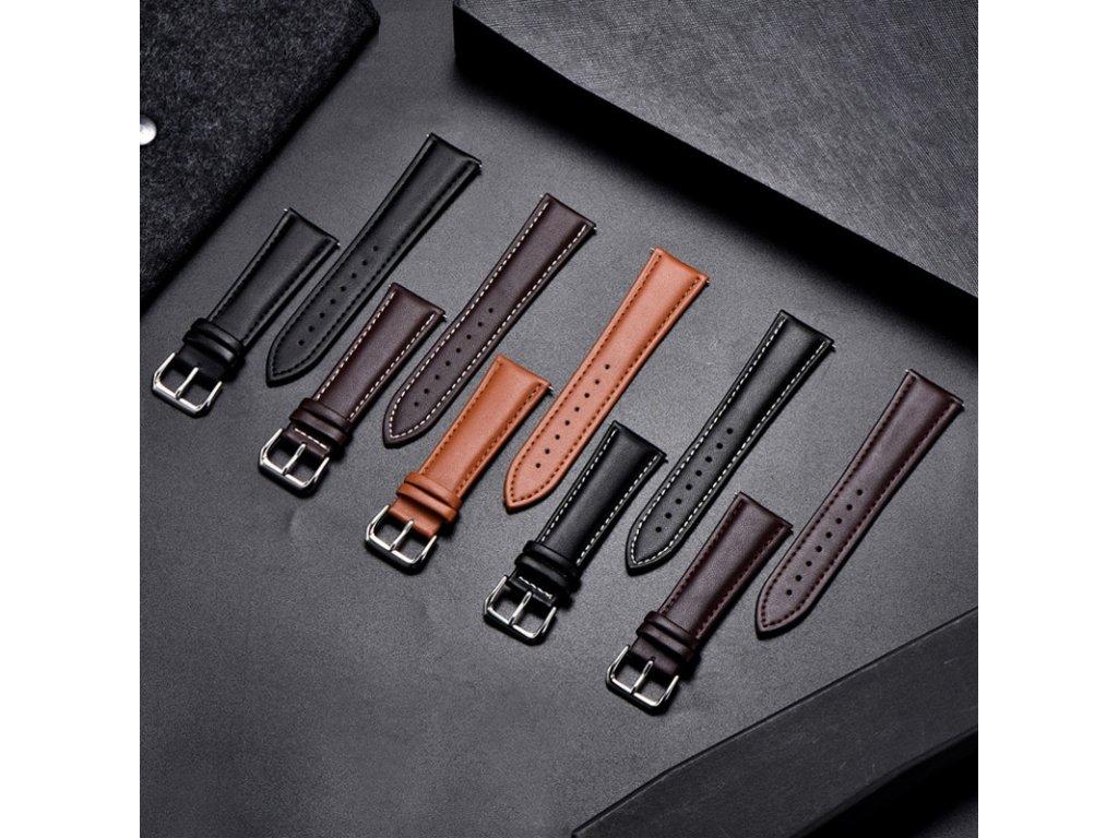 Řemínek z pravé kůže pro chytré hodinky 20mm společné
