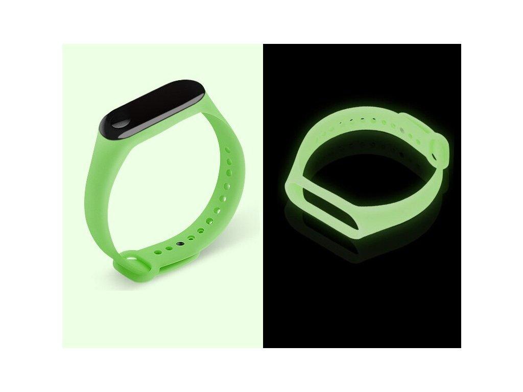 Silikonový svítící náhradní náramek pro Mi Band 3 a 4