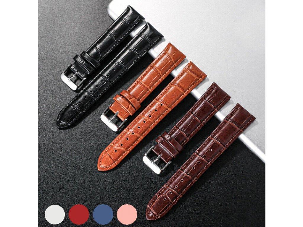 PU kožený řemínek pro chytré hodinky 20mm vzor aligátor společné