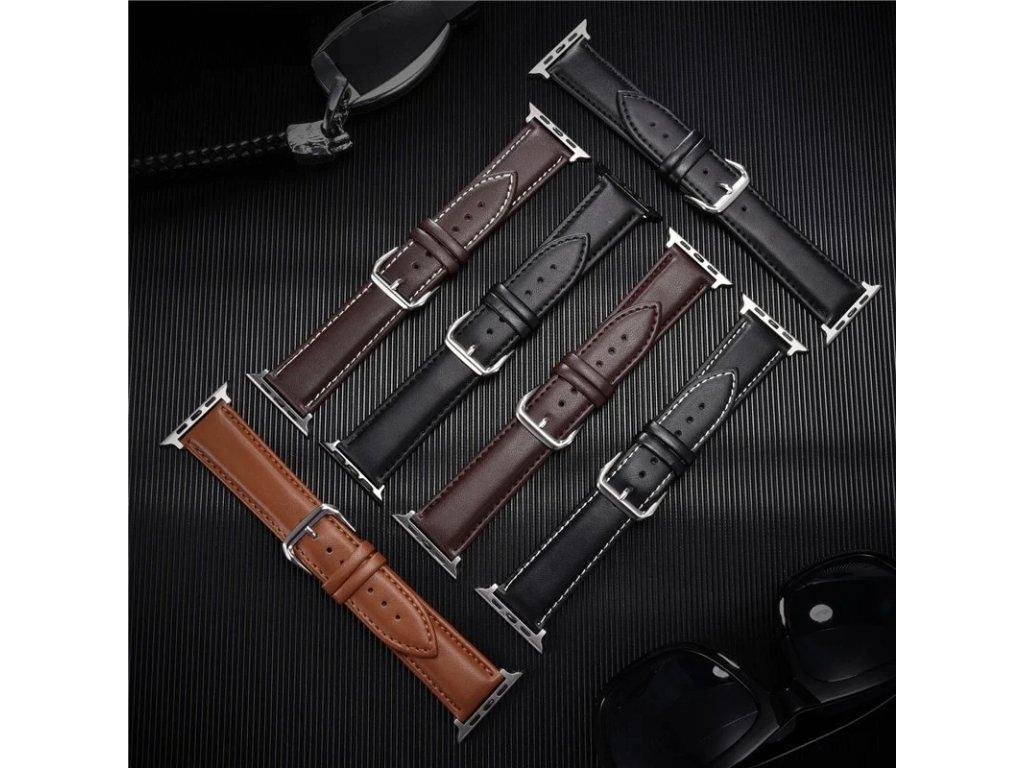 Řemínek z pravé kůže pro Apple Watch 42mm/44mm