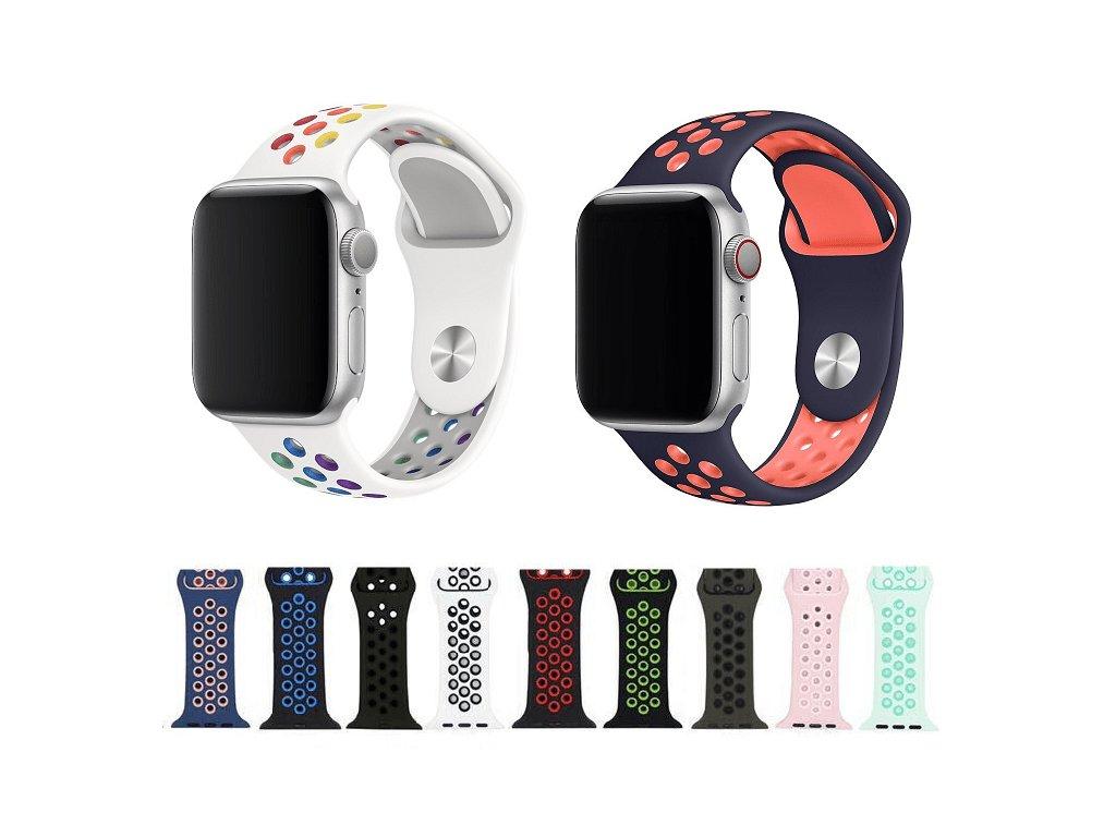 Sportovní silikonový perforovaný řemínek pro Apple Watch 42mm/44mm