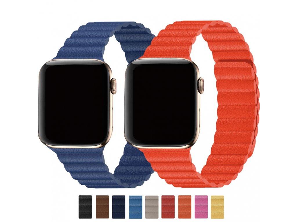 Kožený magnetický loop pro Apple Watch 38mm/40mm