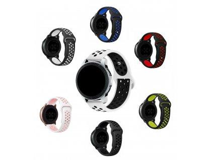 Silikonový řemínek pro chytré hodinky 22mm perforovaný společné