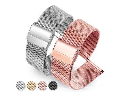 Milánský tah celokovový řemínek pro chytré hodinky 22mm