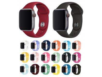 Základní silikonový náhradní řemínek pro Apple Watch 38mm/40mm společné
