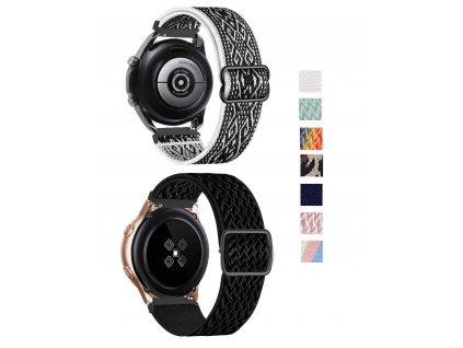 Nastavitelný nylonový elastický loop řemínek pro chytré hodinky 20mm společné