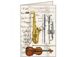Blahopřání Hudební nástroje