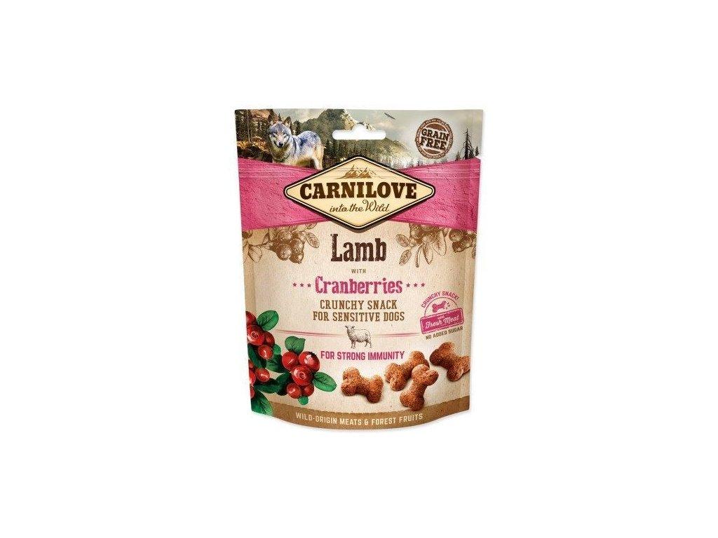 70524 carnilove dog crunchy snack lamb cranberries 200g