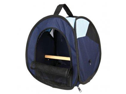 103287 transportni taska s bidylkem pro ptaky tmave modra svetle modra 27x32x27 cm