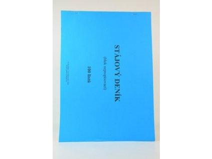 11082 tiskopis stajovy denik nepropisovaci 100 listu