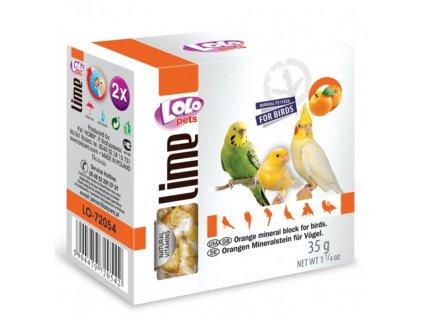 111474 lolopets lime pomerancovy mineralni kamen pro ptaky 35 g