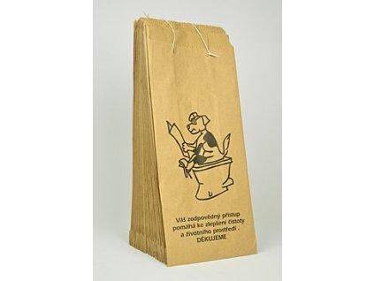 1302 sacky na psi exkrementy papirove site s ouskem 25ks