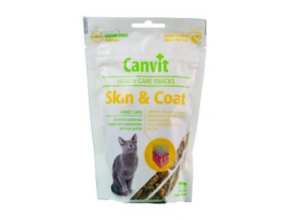 48528 canvit snacks cat skin coat 100g