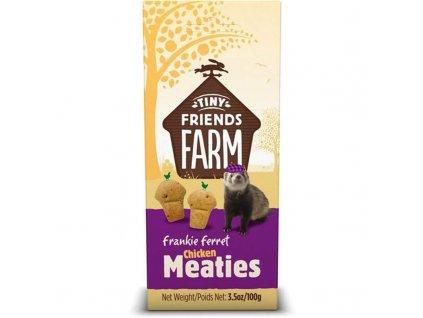 50076 supreme tiny farm snack frankie meaties fretka 100 g