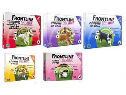 Frontline Tri-Act pro psy Spot-on 1 pip (FRONTLINE TRI-ACT spot-on pro psy XS (2-5 kg)-1x0,5ml -)