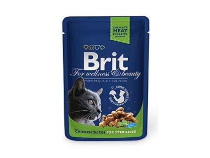 5481 brit premium cat kapsa chicken slices for steril 100g