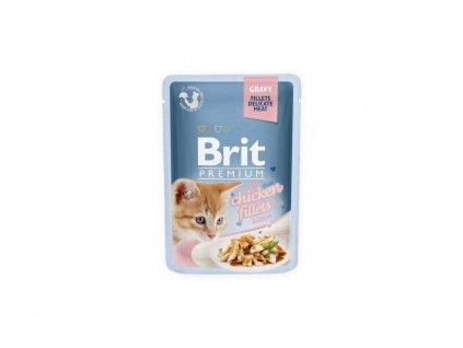 61281 brit premium cat d fillets in gravy for kitten 85g