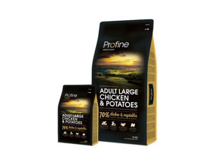 Profine NEW Dog Adult Large Chicken & Potatoes (Profine NEW Dog Adult Large Chicken & Potatoes 15kg + 3kg ZDARMA -)