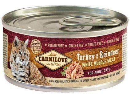 64089 carnilove white konz mus meat turkey reindeer cats100g