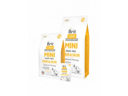 Brit Care Dog Mini Grain Free Hair & Skin (Brit Care Dog Mini Grain Free Hair & Skin 2kg -)