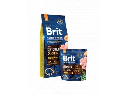 Brit Premium By Nature Dog Junior M (Brit Premium by Nature Dog Junior M 1 kg -)