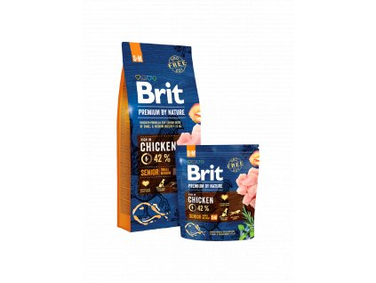 Brit Premium By Nature Dog Senior S+M (Velikosti balení 1kg)