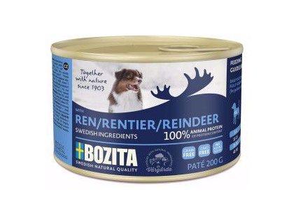 74880 bozita dog pate reindeer 200g