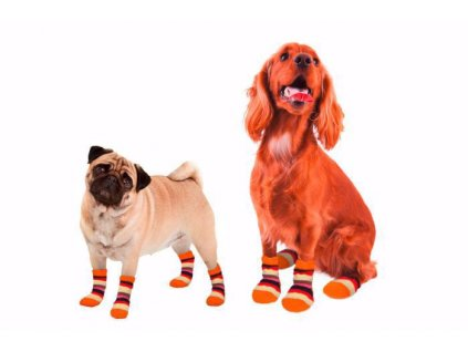 75135 ponozky pro psa protiskluzove m 2ks sada kar
