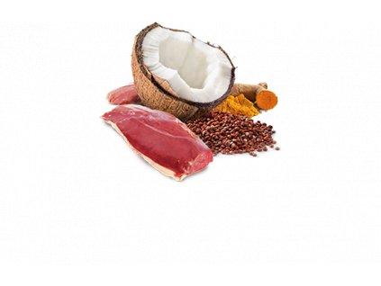 77694 n d cat quinoa adult duck coconut 80g 80g zdarma