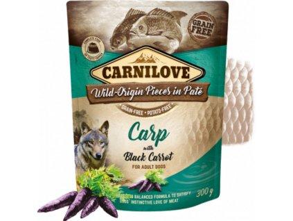 83661 carnilove dog pouch pate carp black carrot 300g