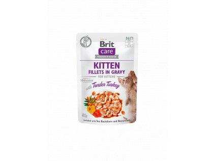 83808 brit care cat fillets gravy kitten tender turkey 85g