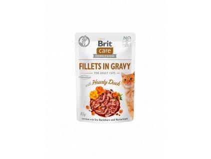 83811 brit care cat fillets in gravy hearty duck 85g