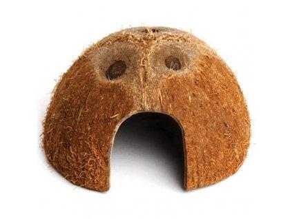 87381 dekorace prirodni ukryt kokos komodo 11x11x6cm