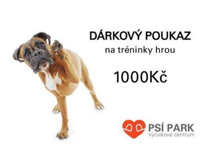 90054 darkovy poukaz psipark 1 000kc 1ks