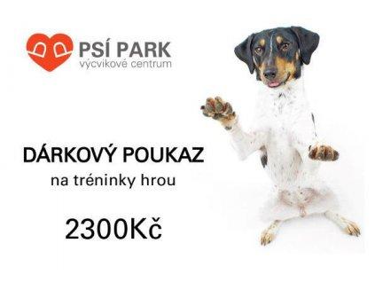 90057 darkovy poukaz psipark 2 300kc 1ks