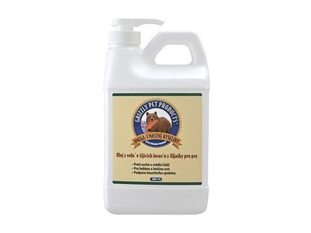 Lososový olej pes Grizzly Wild Salmon 2L
