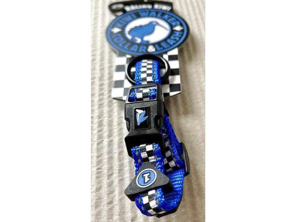 Obojek Kiwi Walker RACING modrá