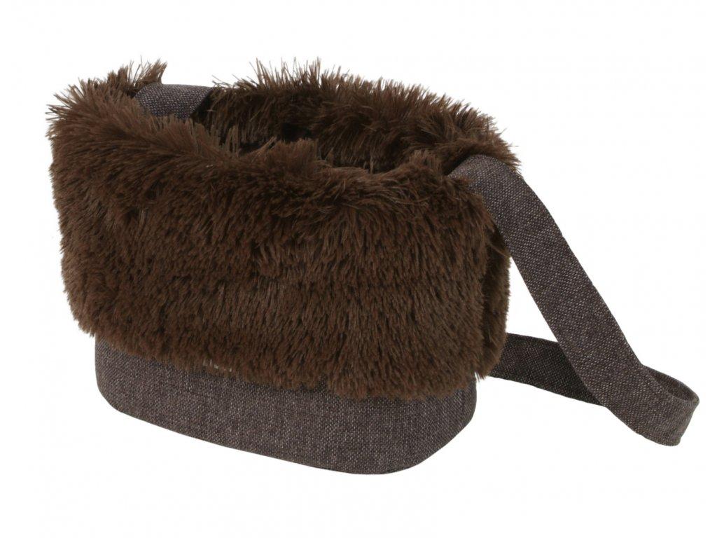 O'lala Pets taška Luxury 32 cm tmavě hnědá