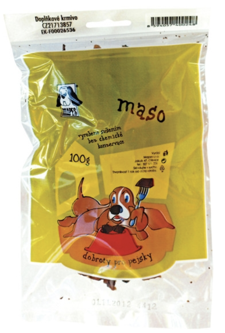 Pochoutka sušená MAPES maso 100g