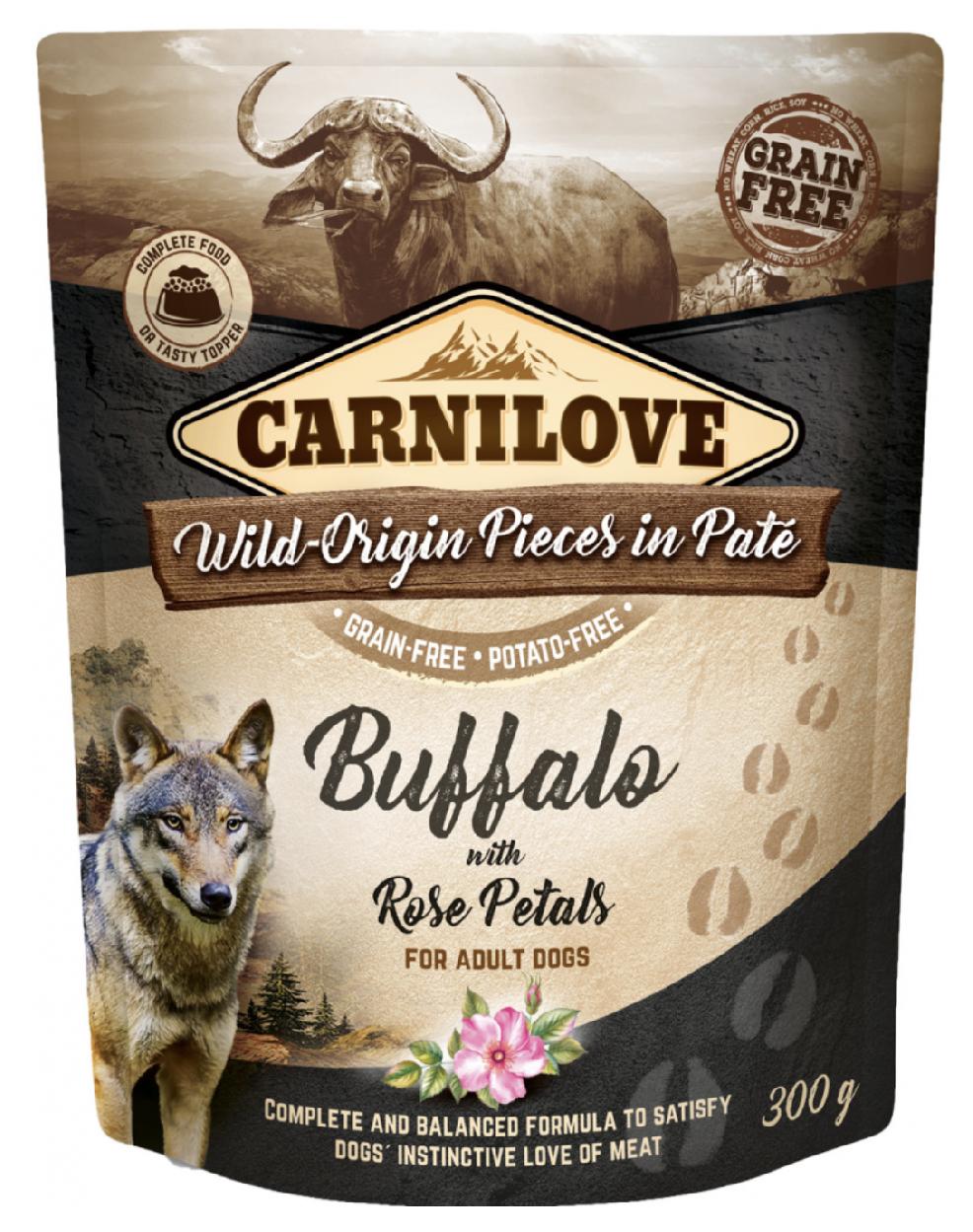 Carnilove Dog Pouch Paté Buffalo & Rose Petals 300g