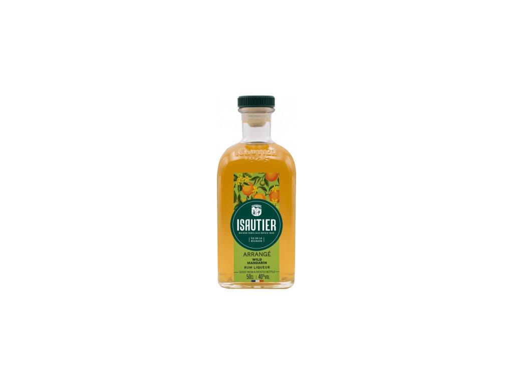 isautier arrange wild mandarin rum liqueur 05l
