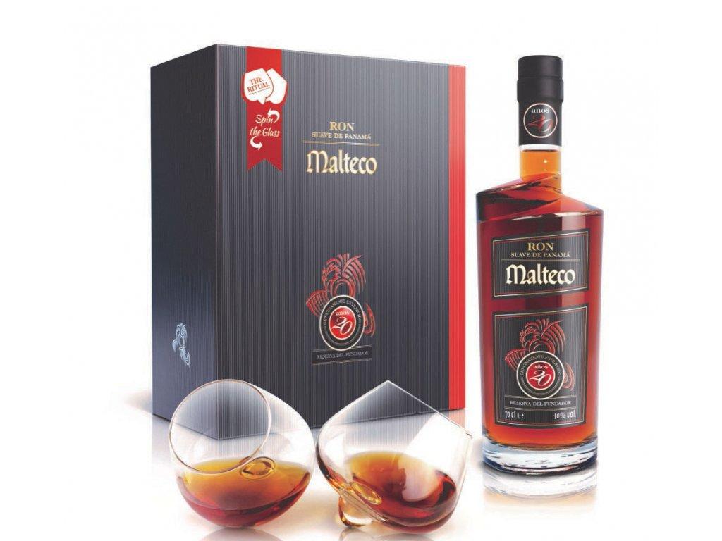 Malteco gaveaeske med glas