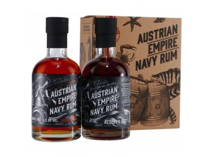 austrian empire navy reserve 1863 rum solera navy rum 18yo 2x02l