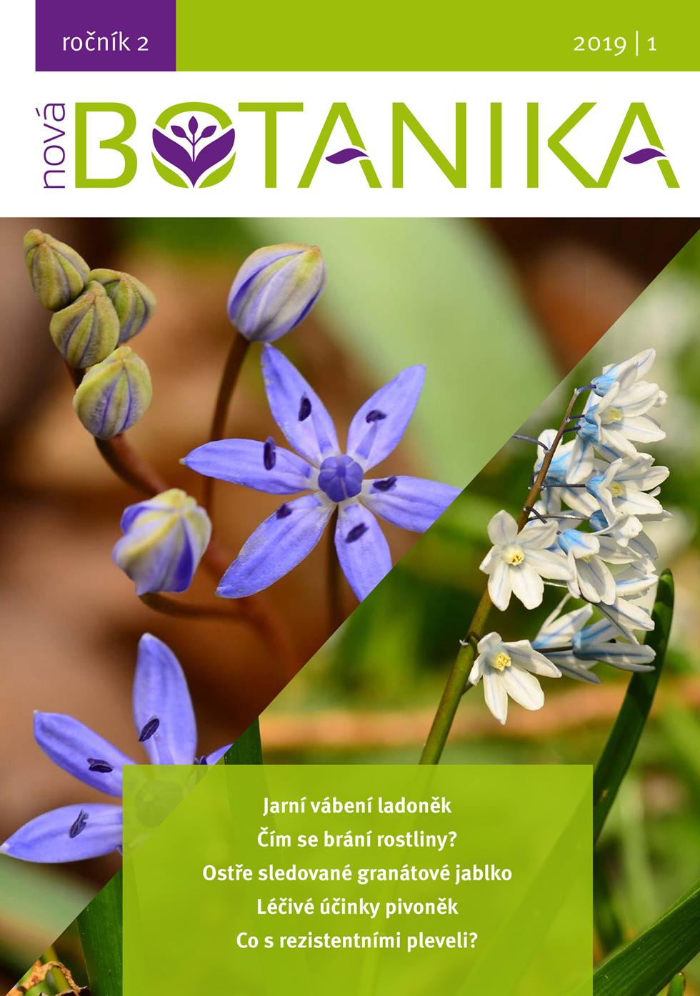 O čem si přečtete v novém čísle časopisu Nová Botanika