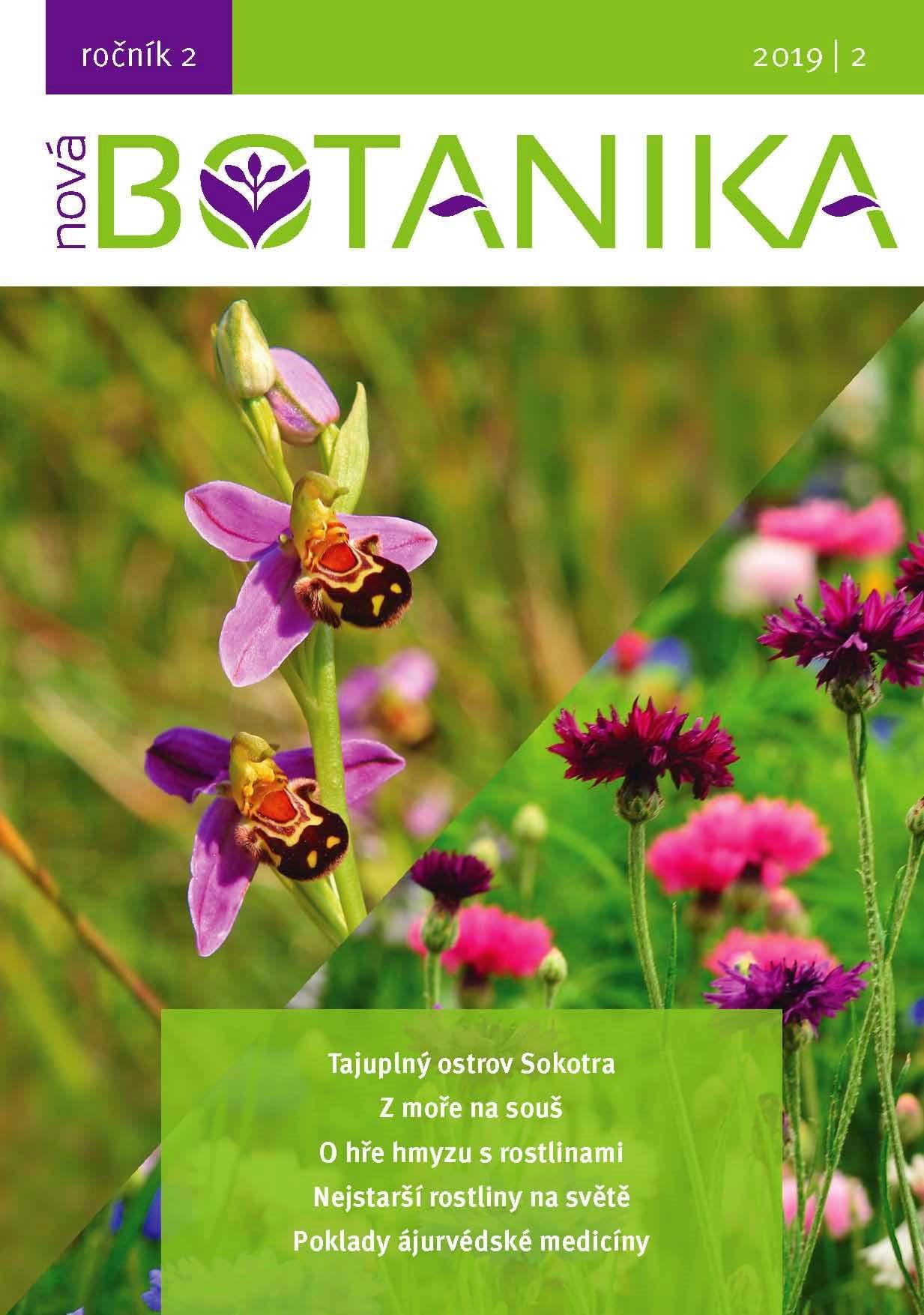 Obsah vydaných čísel Nové Botaniky (ročníky 2018 + 2019)