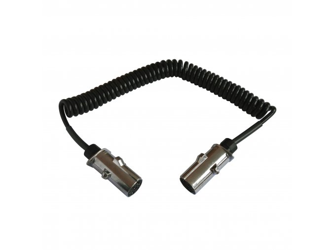 Kabel propojovací 7+0d černý 4,5m kov.