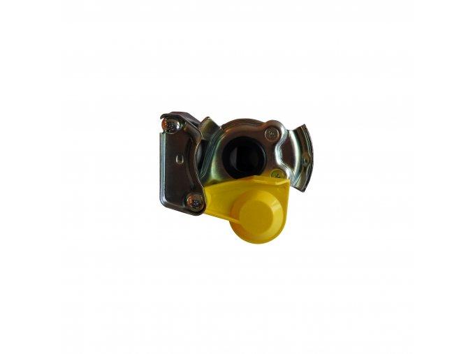 Spojková hlavice /vozidlo/ s ventilkem žlutá m16x1,5