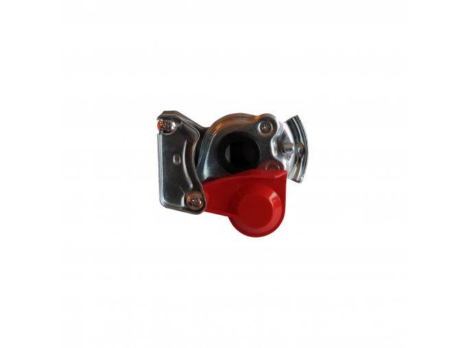 Spojková hlavice /vozidlo/ s ventilkem červená m16x1,5