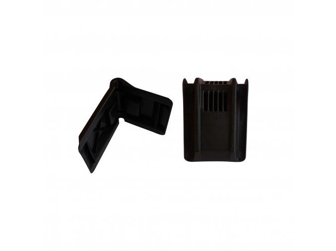 Ochranný plastový roh kurty 185x145x150 černý k-faktor 1,79 bez výstuže